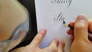 Copperplate Calligraphy - Starry