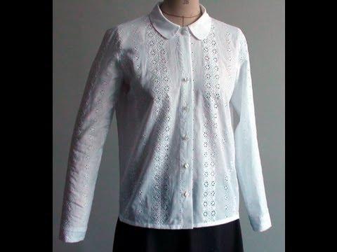 comment coudre une chemise femme col claudine kit de chez les f es youtube. Black Bedroom Furniture Sets. Home Design Ideas