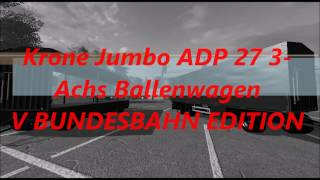"Link:https://www.modhoster.de/mods/krone-jumbo-adp-27-3-achs-ballenwagen#description  http://www.modhub.us/farming-simulator-2017-mods/krone-jumbo-adp-27-3-axis-ballcarts/ Funktionen: Bordwände HR - Key ""M"" MR - Key ""N"" VR - Key ""B"" HL - Key ""K"" ML - Key"