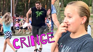 DAD EMBARRASSES TEENAGE DAUGHTER w/ FUNNY FESTIVAL DANCING!
