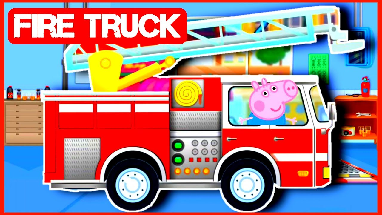 Peppa PIG FIRE TRUCK | Fire Rescue Mission | Kid's Video