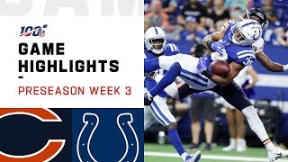 Bears vs. Colts Preseason Week 3 Highlights | NFL 2019