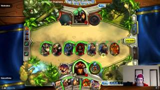 Hearthstone: Tides of Time gaining 40 armor in a single turn to outlast hunters!