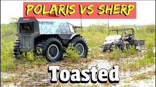 Sherp vs Polaris ranger in a 4 x 4 offroad Mudbog Race & obstacle course