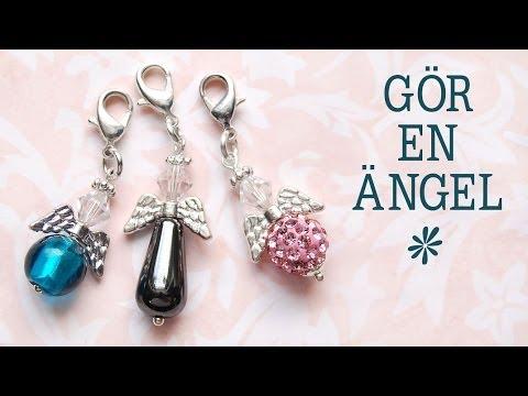 Gör en ängel berlock - smyckestillverkning - YouTube
