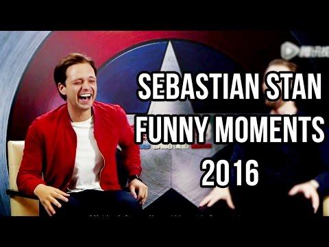 Sebastian Stan Funny Moments 2016
