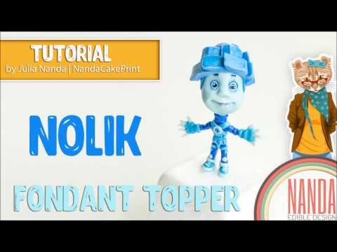 Fondant Figures - The Fixies Nolik Cake Topper Tutorial. Нолик Фиксики фигурка из мастики