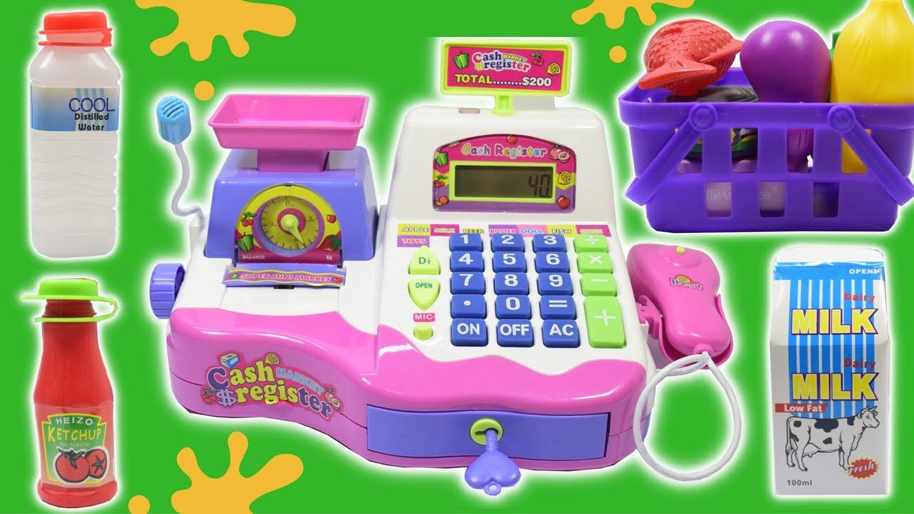 Cash Register Toy Supermarket Cash Register Toy For Girls Playset