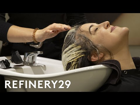 I Dyed My Black Hair Billie Eilish Blue | Hair Me Out | Refinery29