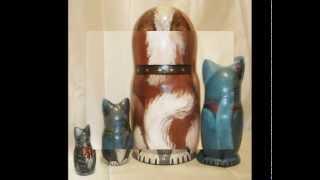 Кошки матрешки от Ларисы Дюка