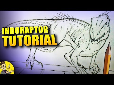 How To Draw Indoraptor Full Body Tutorial - Jurassic World Fallen Kingdom