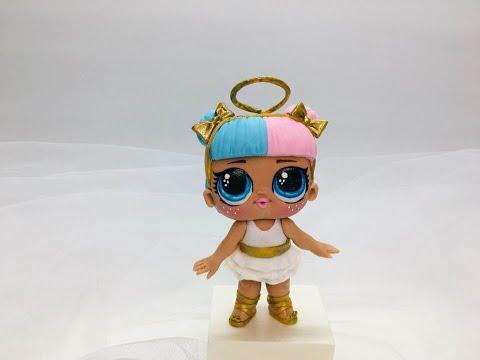 кукла лол ангел из мастики - YouTube