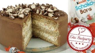 Kinder Schoko-Bons-Torte / Schokobons Torte / Geburtstag / Backen mit Evas Backparty