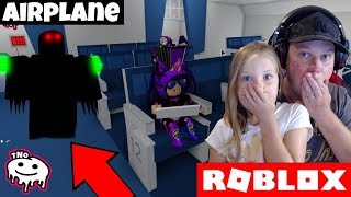 DEMON sur l'AIRPLANE, WE FLY ON HOLIDAY-Airplane Story (fr) Papa et Barunka Roblox