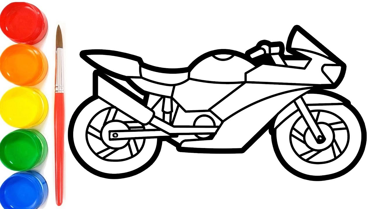 How To Draw A Motorcycle Easy Step By Step