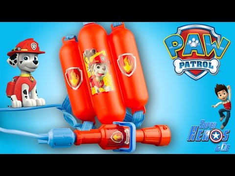 Pat Patrouille Lance à Eau Marcus Paw Patrol Marshall Water Blaster Jouet Toy Review Patrulla Canina