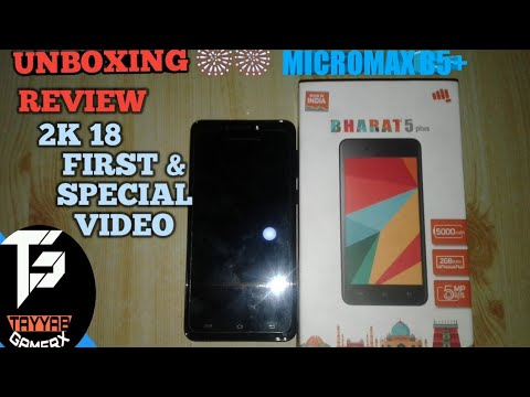 MICROMAX BHARAT 5 PLUS UNBOXING+ REVIEW