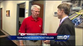 Chiefs owner pays surprise visit to season ticket member