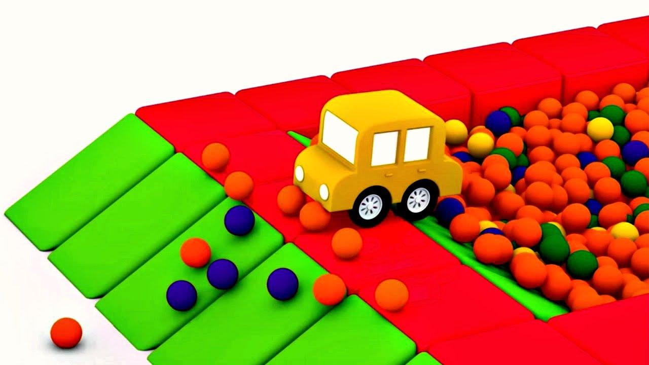 dessin anim ducatif de 4 voitures color es la piscine balles youtube. Black Bedroom Furniture Sets. Home Design Ideas