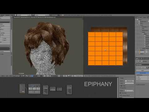 Blender 3D Hair Modelling - Texture Demo