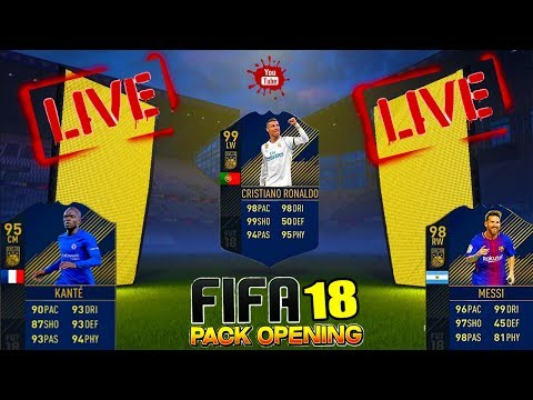 LiveStream FIFA 18 Pack Opening - In Cautarea Lui Ronaldo , Messi , Kante Team Of The Year !!!