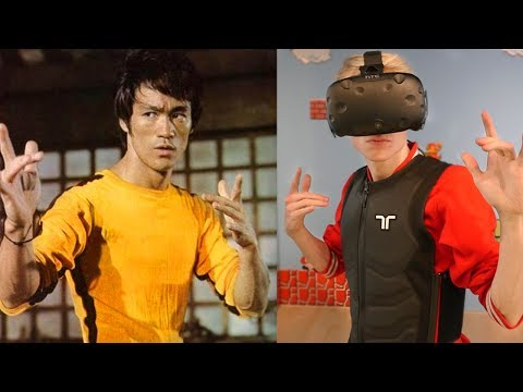 BECOME BRUCE LEE IN VIRTUAL REALITY! | Kung Fu VR Simulator (HTC Vive + Haptic Suit Gameplay)