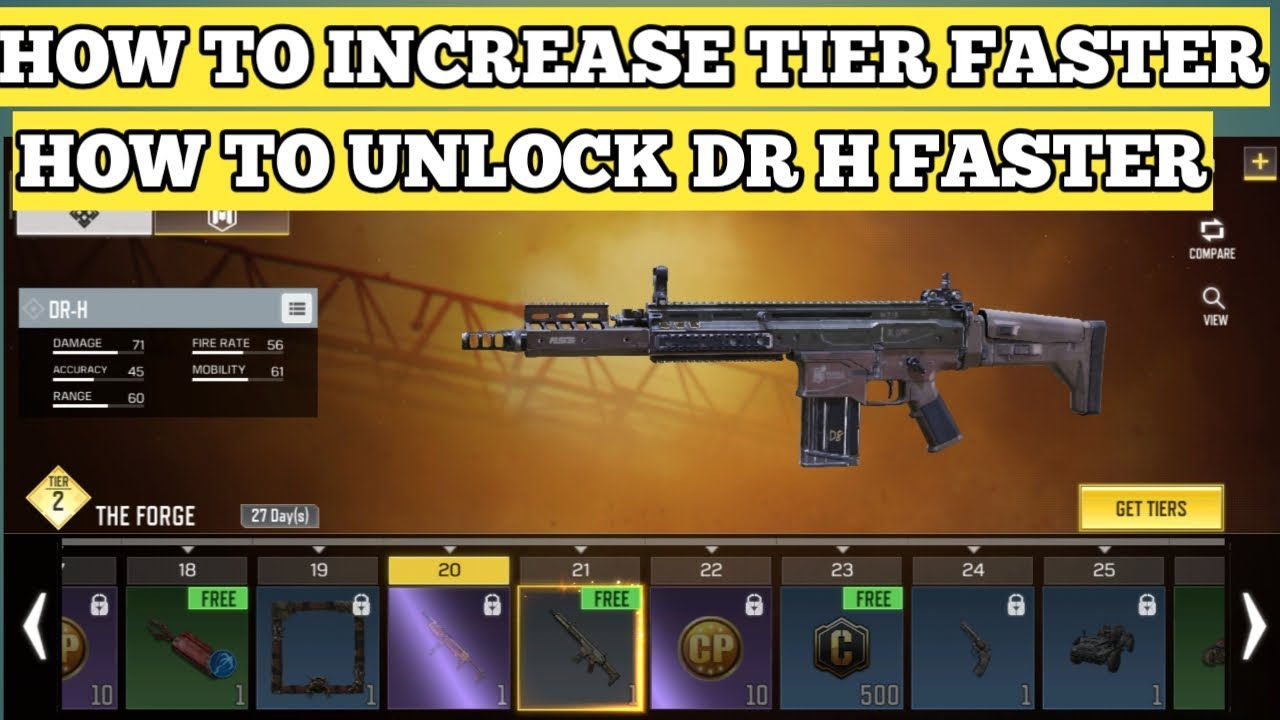 How To Unlock Drh Dr H Gun Weapon Faster Increase Or Get Tier Xp