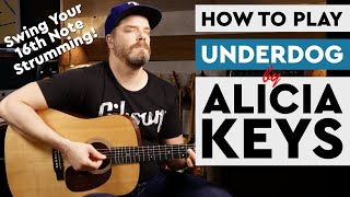 How to Play Underdog by Alicia Keys - Guitar Lesson