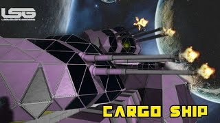 Space Engineers - Concealed Carry Flak Guns, Cargo Ship