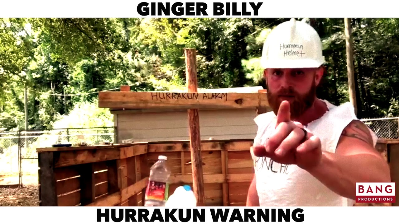 COMEDIAN GINGER BILLY: HURRAKAN WARNING! LOL FUNNY LAUGH COMEDY