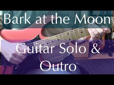 Guitar Solo 59 - Bark at the Moon - Ozzy Osbourne/Jake E Lee - Solo & Outro Lesson