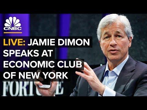 LIVE: Jamie Dimon speaks at Economic Club of New York – Jan. 16, 2019