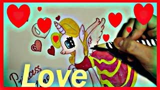 Я рисую пони. Как нарисовать Принцессу Любви. How to draw a Princess of Love(Привет всем ! Я люблю рисовать. Посмотрите как рисовать пони Принцесса Любви. Все рисуют пони по разному...., 2015-02-13T08:54:11.000Z)