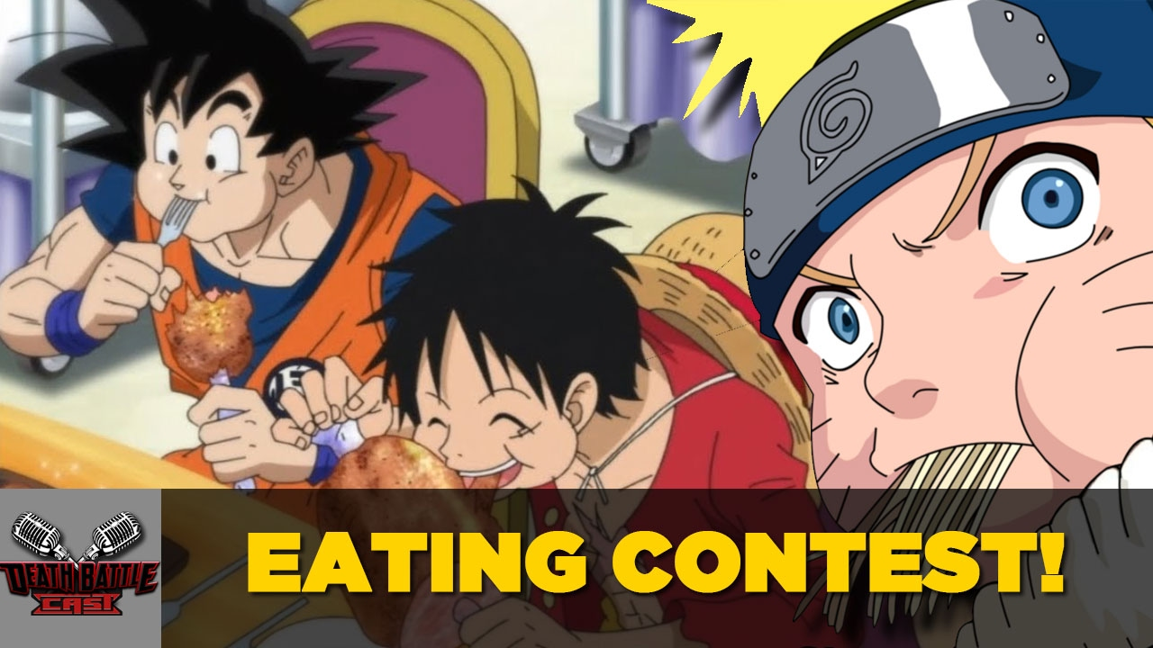 While luffy's abilities are centered around body modification and manipulation, naruto is far more versatile. Goku Vs Luffy Vs Naruto Eating Contest Death Battle Cast Youtube
