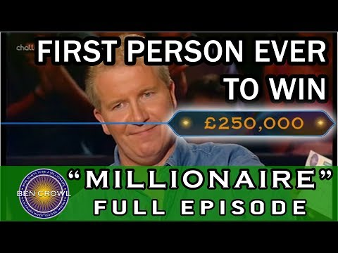 Who Wants to be a Millionaire 4th September 1999 Jonathan Green wins £250,000