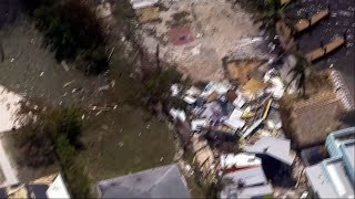 Helicopter Surveys Damage in Key West, Fla.