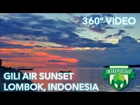 360 VIDEO - Gili Air Sunset, Lombok, Indonesia - HD
