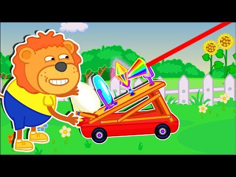 Lion Family 🔮 Outdoor Games & Activities Cartoon for Kids