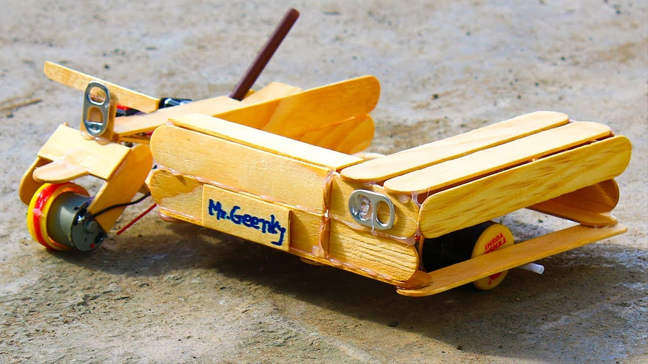 How to Make A Tuk Tuk Auto Rickshaw Using Popsicle Sticks ...