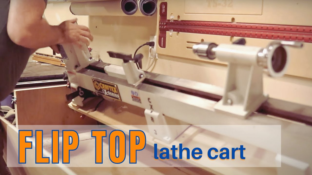 How to Make a Flip Top Lathe Cabinet // Flip top Workbench