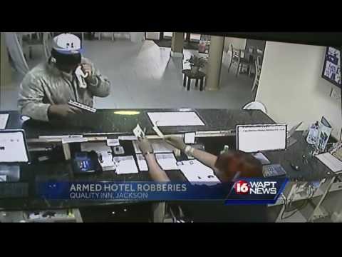 Hotel robbery caught on camera
