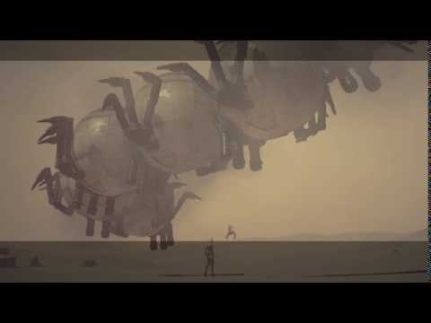 "Nier: Automata Route C - Memories of Sand: ""Hegel"" Ancient Linked Machine Boss Introducion Cutscene"