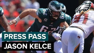 C Jason Kelce Looking To Keep Carson Wentz Clean Sunday | Eagles Press Pass