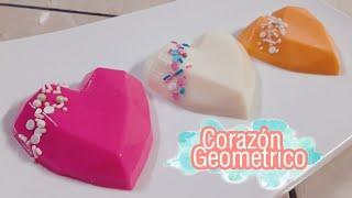 Gelatina de corazón Geométrico