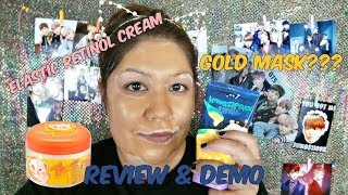 Elizavecca 24K Gold Milky Piggy Kangsi Pack & EGF Retinol Cream Review & Demo