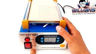 Yaxun 943, Separadora de LCD/Touch com sucção a vácuo