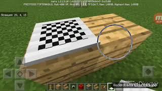 Как сделать шахматный стол и компьютерный стол в майнкрафт : )   : )