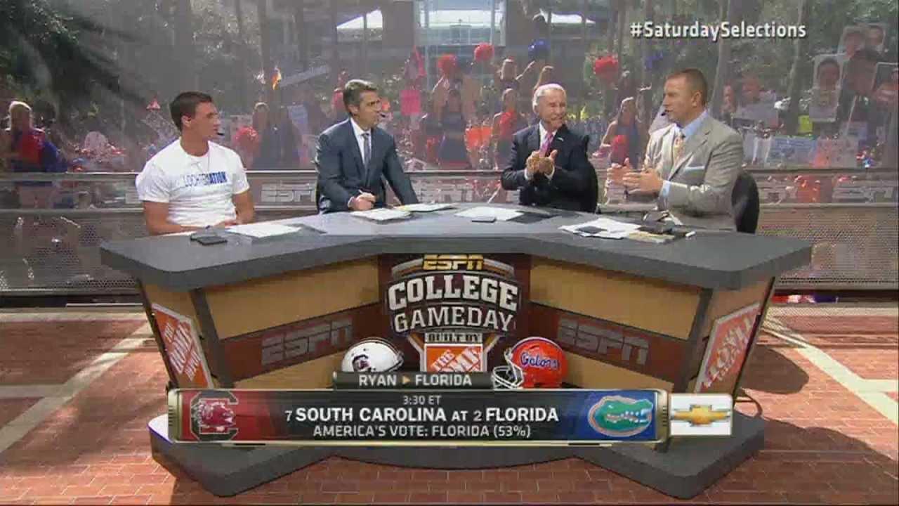 College Gameday Corso's Pick: South Carolina at Florida ...
