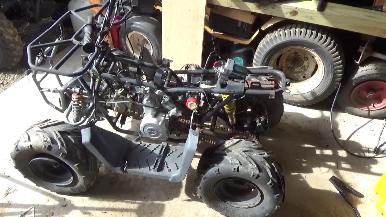 hight resolution of diy sunl 110cc atv top mount starter change step by step install instructions