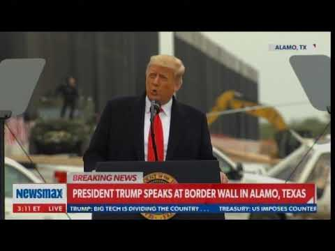 "PRESIDENT TRUMP Speaks at Alamo: ""Freedom of Speech Is Under Assault -- Impeachment is a Hoax"